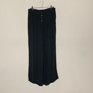 Flax l Black Rayon Loose Pants